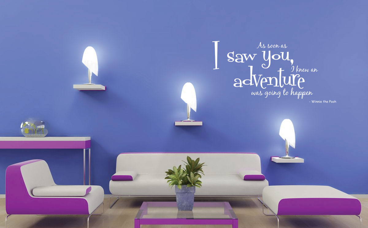 Winnie the pooh aa soon as i saw children art wall quote for Wall mural quotes