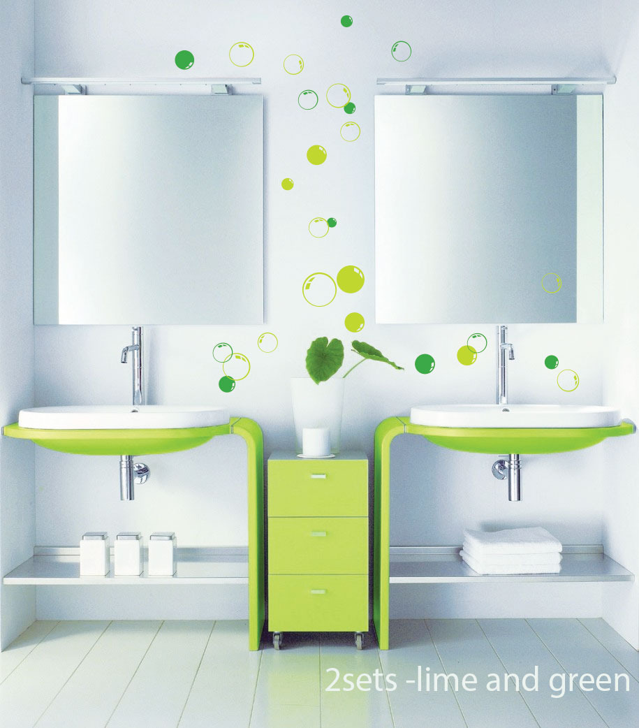 58 bubbles bathroom window shower tile wall stickers wall - Stickers faience salle de bain ...