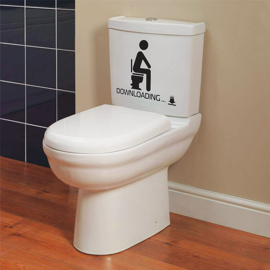 funny toilet seat bathroom stickers decals p2 ebay. Black Bedroom Furniture Sets. Home Design Ideas