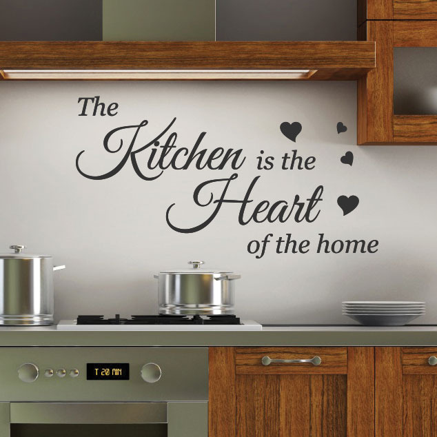 kitchen is the wall quotes stickers wall decals wall