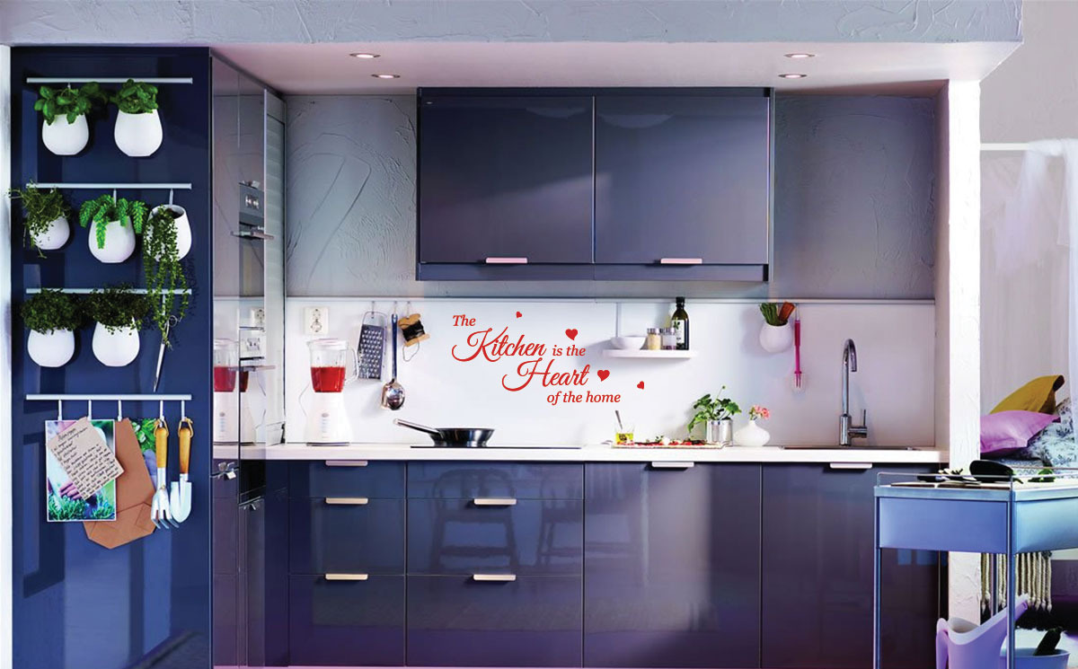 kitchen heart wall stickers quotes