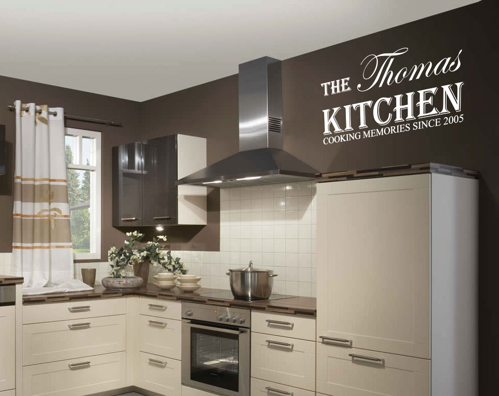 personalized kitchen name art wall sticker quotes wall