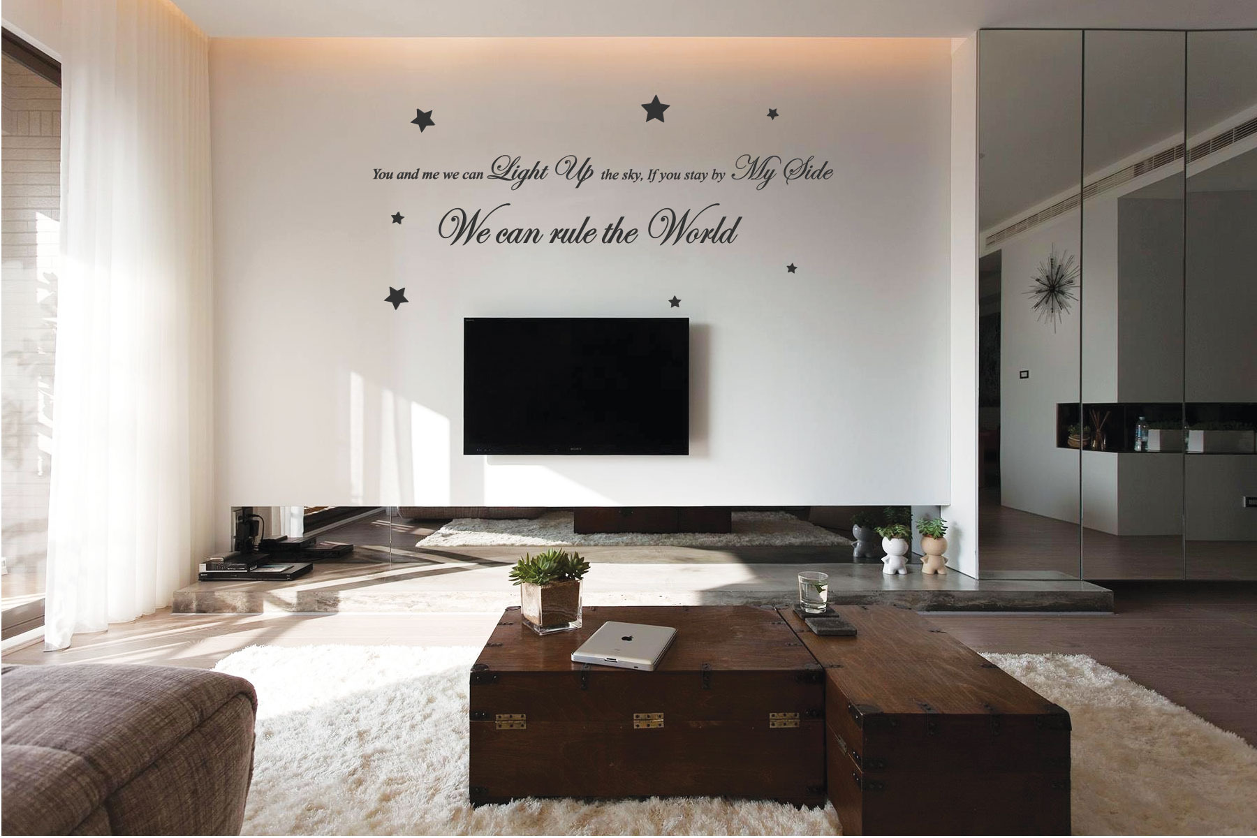 Take That Rule The World Song Lyrics Wall Quote Stickers Wall ...